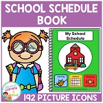 School Schedule Book 192 Picture Icons ~ Digital Download~